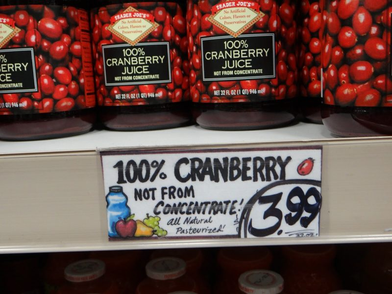 ADHD and Sleep Pure Cranberry Juice