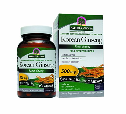 ADHD Brain Fog Korean Ginseng Root Capsules