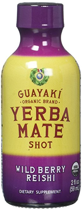 ADHD Medication OTC Guyaki Yerba Mate Shots Wild Berry Reishi