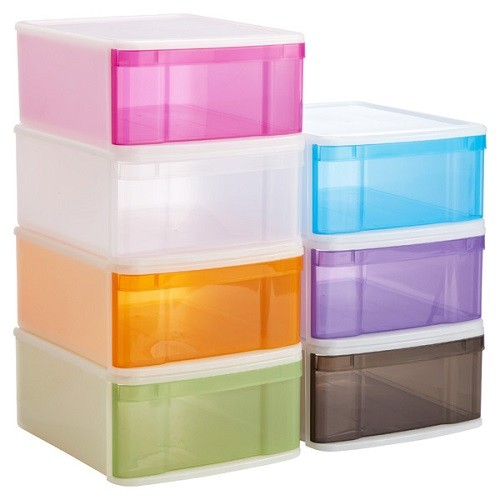 ADHD Organizers The Container Store Large Tint Stackable Drawers