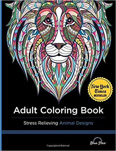 Anxiety Coloring Books Adult Coloring Book Stress Relieving Animal Designs
