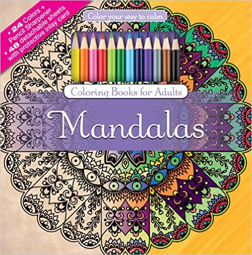 Anxiety Coloring Books Mandalas Adult Coloring Book Set
