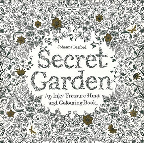 Anxiety Coloring Books Secret Garden