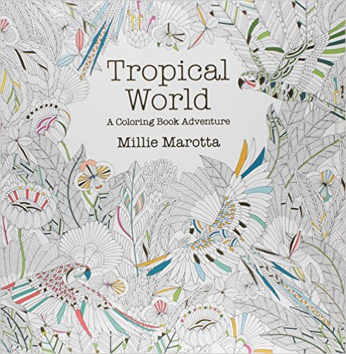 Anxiety Coloring Books Tropical World