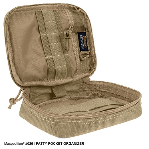 Everyday Carry Items for ADHD EDC Maxpedition Fatty Pocket Organizer Khaki