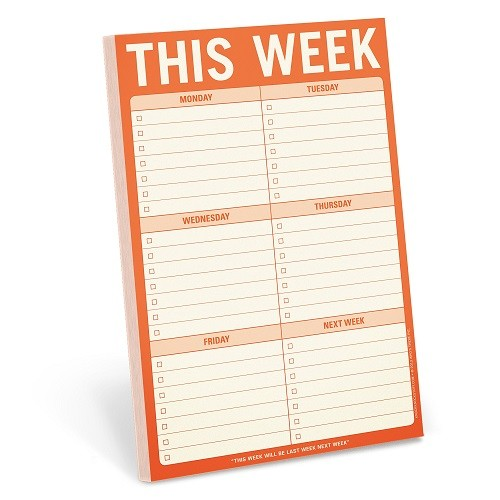 Holiday Buyers Guide for People With ADHD 2019 Edition Knock Knock This Week Pad To Do List