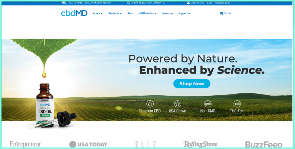 cbdMD Homepage CBD Oil for ADHD